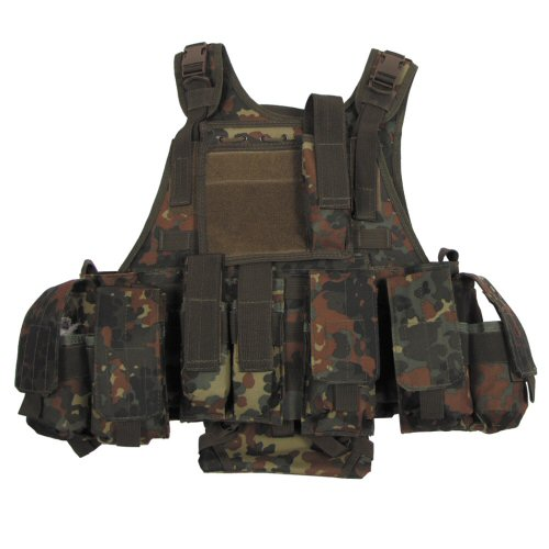 44fda0702d6b Flecktarn MOLLE Plate Carrier with Pouches