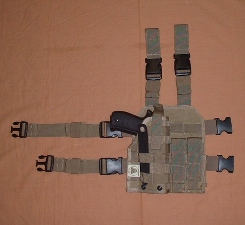 New Olive Bulle MOLLE Webbing Drop Leg Panel